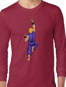 Blue Ken Shoryuken Long Sleeve T-Shirt