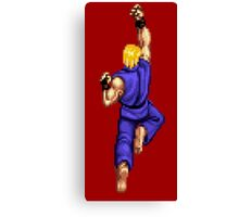 Blue Ken Shoryuken Canvas Print