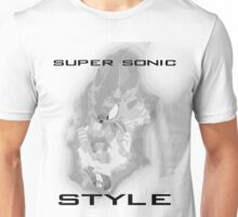 Super Sonic Style (Grayscale) Unisex T-Shirt