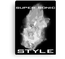 Super Sonic Style (Grayscale) Canvas Print