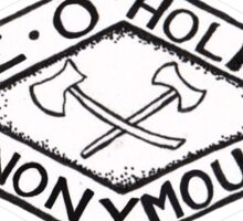 Axe-O-Holics Anonymous Stamped Logo Sticker