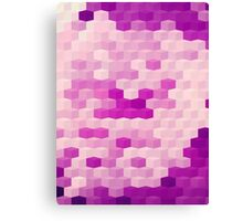 Abstraction #148 Purple and White Blocks Canvas Print