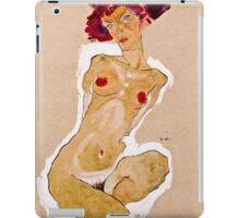 Egon Schiele - Squatting Female Nude (1910)  iPad Case/Skin