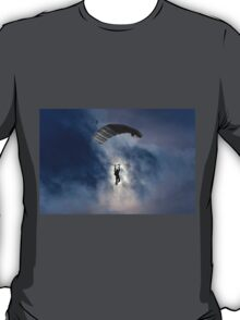 Skydiver and moon T-Shirt