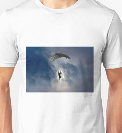 Skydiver and moon Unisex T-Shirt