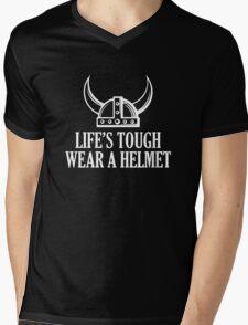 Life's Tough. Wear A Helmet Mens V-Neck T-Shirt
