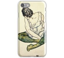 Egon Schiele - Seated Woman With Green Stockings  iPhone Case/Skin