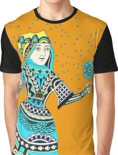 Queen Running with Magic Flower Graphic T-Shirt