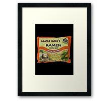 Uncle Iroh's Ramen Noodle Soup Framed Print