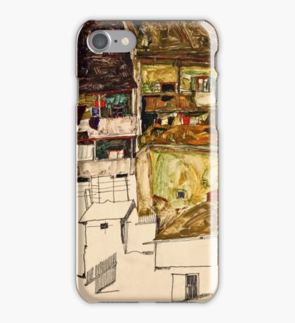 Egon Schiele - Old Houses in Krumau, 1914 (1914)  iPhone Case/Skin