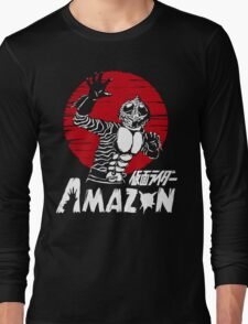 Japan Monster Tokusatsu Retro Masked Kamen Rider Amazon  Long Sleeve T-Shirt