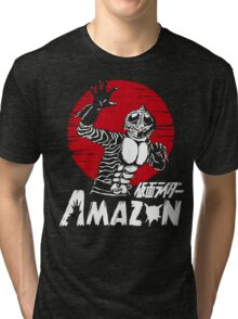 Japan Monster Tokusatsu Retro Masked Kamen Rider Amazon  Tri-blend T-Shirt