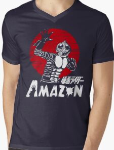 Japan Monster Tokusatsu Retro Masked Kamen Rider Amazon  Mens V-Neck T-Shirt