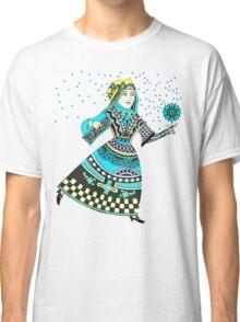Queen Running with Magic Flower Classic T-Shirt
