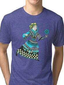 Queen Running with Magic Flower Tri-blend T-Shirt