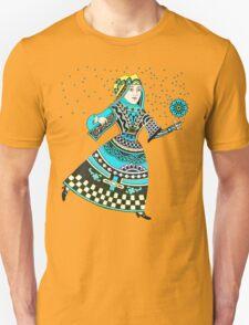 Blue Queen Running with Magic Flower T-Shirt