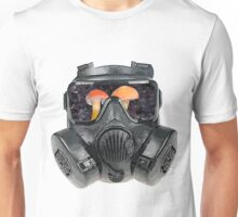 gas mask fungi shroom view Unisex T-Shirt
