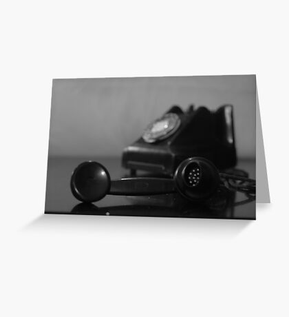 Vintage Telephone black-and-white Greeting Card