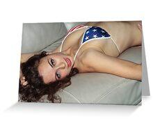 USA Girl Greeting Card