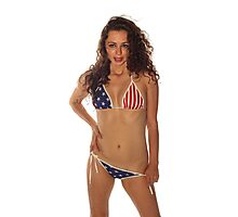 USA Girl Photographic Print