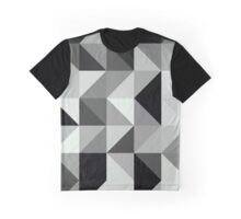Abstract #150 Black Grey Right Triangles Graphic T-Shirt