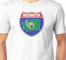 Washington flag USA seal sign Unisex T-Shirt