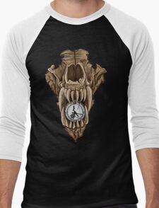 Death Clock Wolf Skull Men's Baseball ¾ T-Shirt