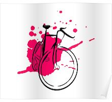 Bicycle Splash Stencil Poster