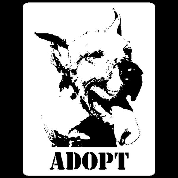 NO-KILL UNITED : ADOPT (STICKER) by Anthony Trott