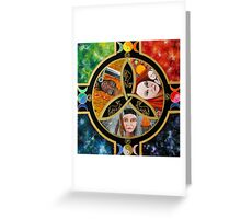 Triple Goddess Mandala by Marg Thomson Greeting Card
