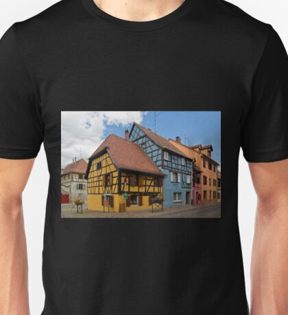 Colorful Half-Timbered Buildings Unisex T-Shirt