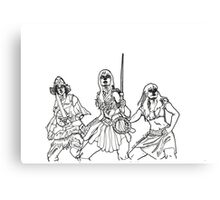 The Xena Gang (black and white) Canvas Print