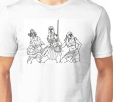 The Xena Gang (black and white) Unisex T-Shirt