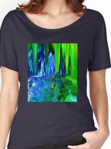 Melted Glitch (Blue & Green) Women's Relaxed Fit T-Shirt