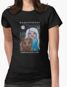 Be a Beacon for Peace - Artwork by Lulu's Heart Centered Healing Womens Fitted T-Shirt
