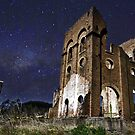 Old blast furnace Lithgow NSW by Doug Cliff