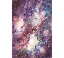 Hand painted abstract watercolor texture Galaxy Photographic Print