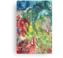 Hand painted abstract watercolor texture Canvas Print