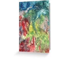 Hand painted abstract watercolor texture Greeting Card