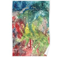Hand painted abstract watercolor texture Poster