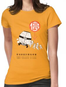 Crowded Bus Family Womens Fitted T-Shirt