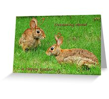 Bunnies dreaming - Happy Easter! Greeting Card