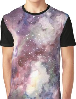 Hand painted abstract watercolor texture Galaxy Graphic T-Shirt