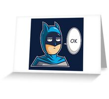 One Punch Vigilante Greeting Card