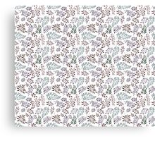 Floral pattern with leaves and branches Canvas Print