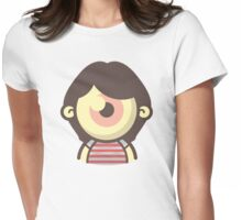 Cartoon One-Eyed Cyclops Girl Womens Fitted T-Shirt