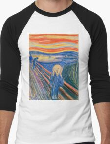 Edvard Munch - The Scream Pastel Men's Baseball ¾ T-Shirt
