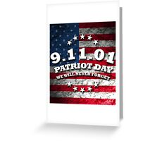 US PATRIOT DAY Greeting Card