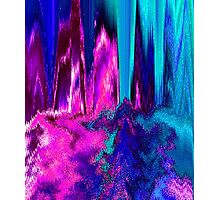 Melted Glitch (Pink & Teal) Photographic Print