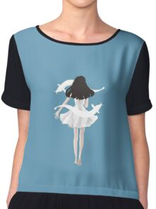 A black haired girl Chiffon Top